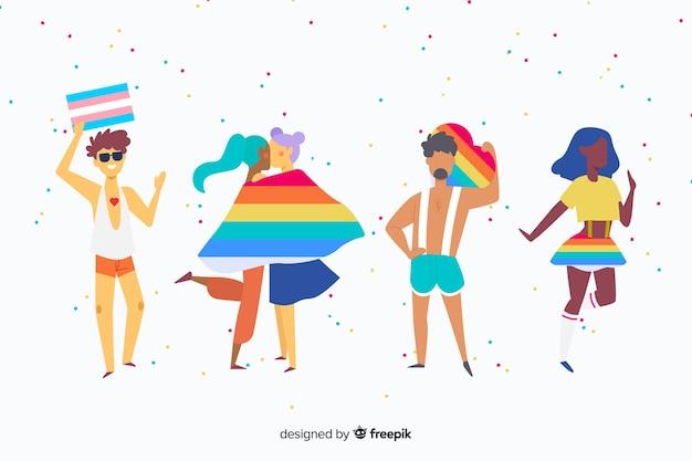 Leute, die stolztag feiern