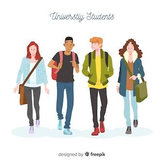 Leute, die zur universität gehen