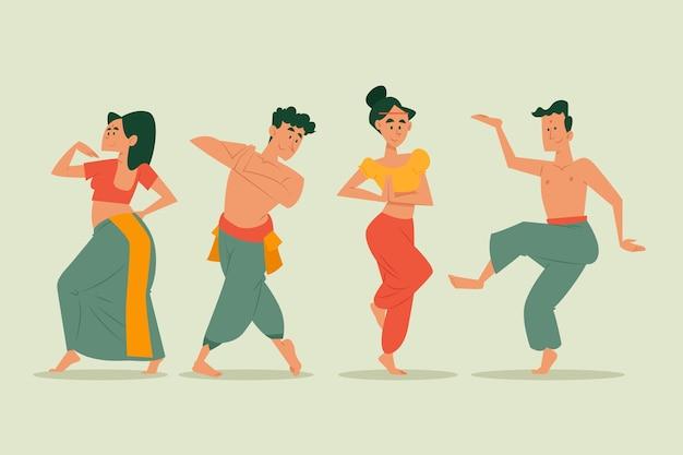 Leute, die zusammen bollywood tanzen