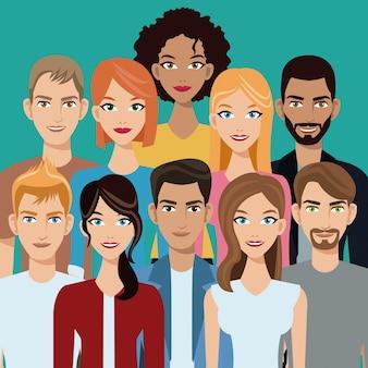Leute gruppieren teamgemeinschaft