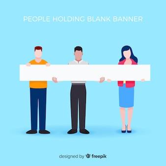 Leute halten banner