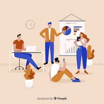 Leute im bürohintergrund