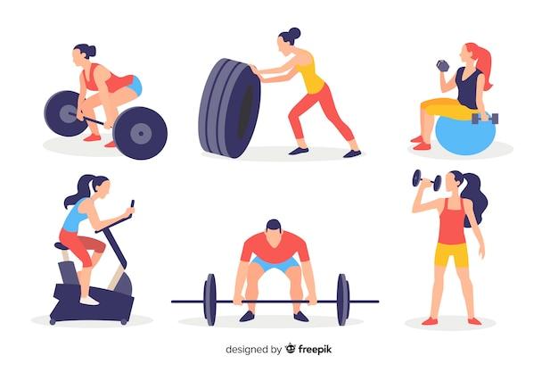 Leute im fitnessstudio