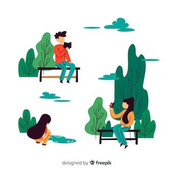 Leute im park
