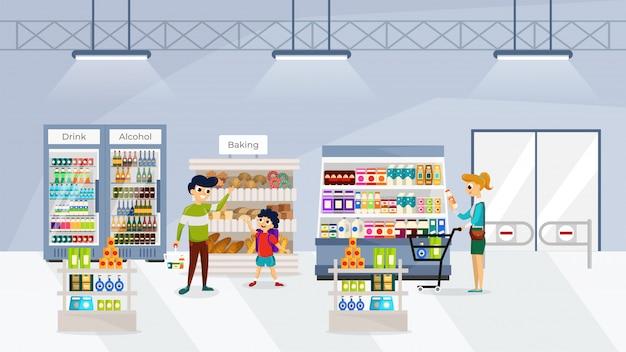 Leute im supermarkt