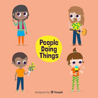 Leute machen dinge