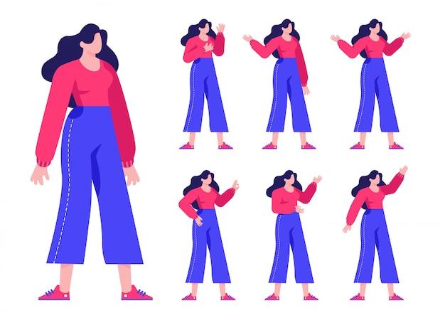 Leute-männlich-weibliche charakter-flache design-illustration