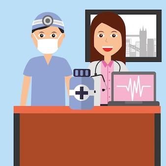 Leute medizinischer beruf