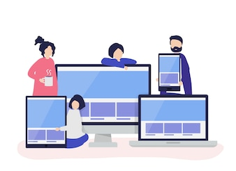 Leute mit Webdesignkonzeptillustration