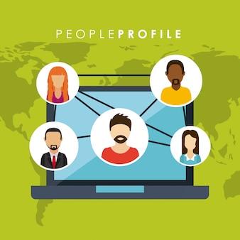 Leute profildesign