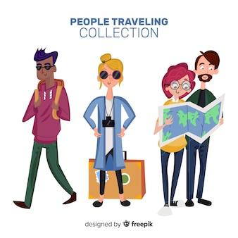 Leute reisen collectio