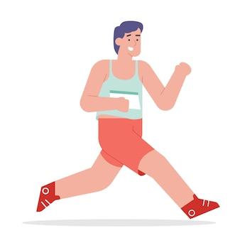 Leute rennen