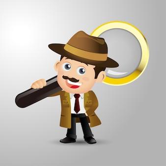 Leute setzen beruf detektiv