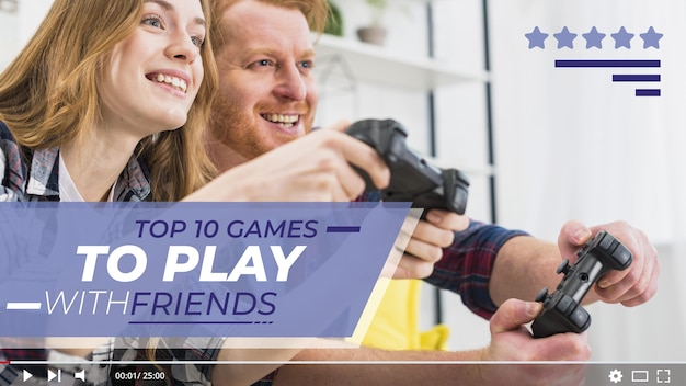 Leute spielen videospiel youtube thumbnail