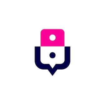 Leute sprechen chat-blase-kommunikationskonferenz-logo-vektor-symbol-illustration