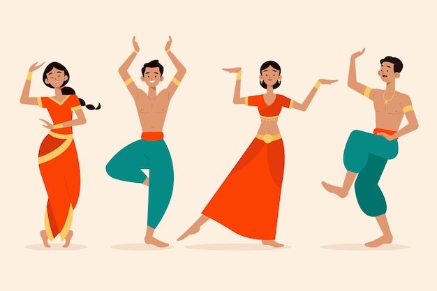 Leute tanzen bollywoow