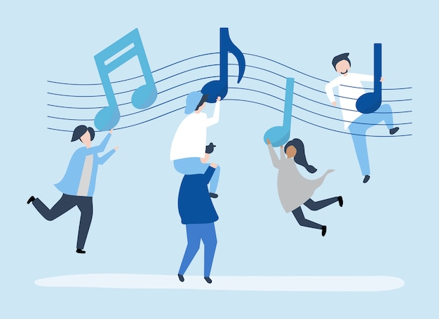 Leute tanzen zur musik