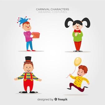 Leute tragen karnevalskostüme