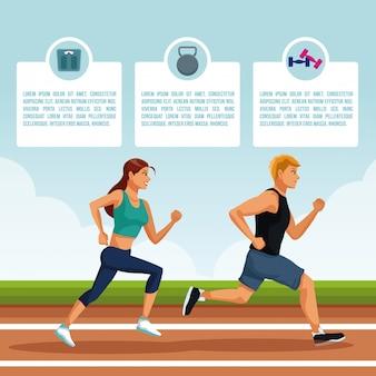 Leute und Atletismus infographic