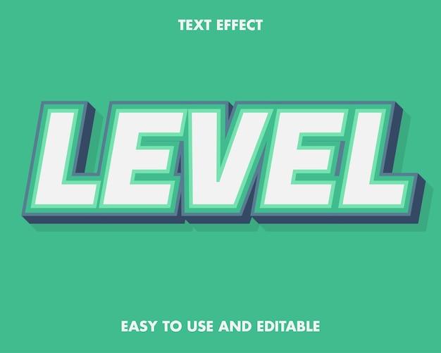 Level-texteffekt. bearbeitbar und einfach zu bedienen.