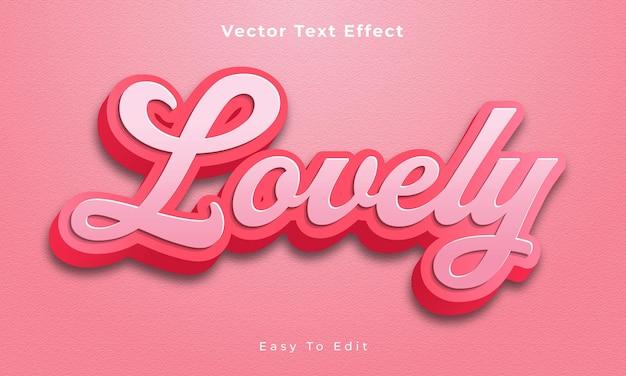 Levely bearbeitbarer 3d-texteffekt premium-vektor premium vecto