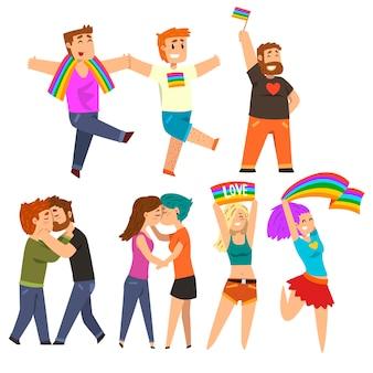 Lgbt gemeinschaft feiert schwulen stolz