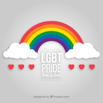 Lgbt stolzhintergrund mit regenbogen
