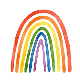 Lgbt-stolzmonat - aquarell clipart. lgbt-kunst, regenbogencliparts für stolzaufkleber, poster, karten.