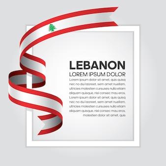 Libanon-bandflagge, vektorillustration auf weißem hintergrund