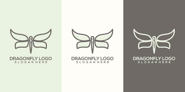 Libelle logo vorlage Premium Vektoren