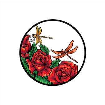 Libellenblumenlogo