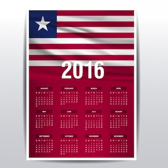 Liberia-kalender 2016