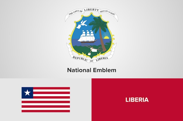 Liberia national emblem flag vorlage