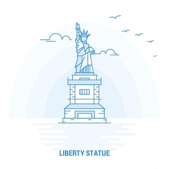 Liberty statue blue landmark
