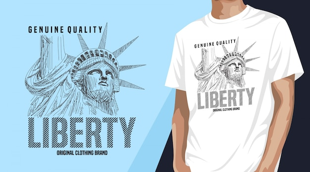 Liberty t-shirt design für druck
