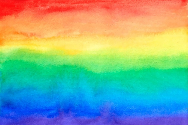 Licht alles ist in ordnung aquarell regenbogen