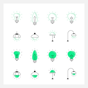 Licht lampe kreative symbol
