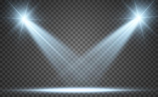 Licht mit funkeln auf transparentem hintergrund.