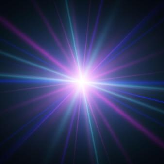 Licht und streifen bewegen sich schnell über einen dunklen hintergrund. lichteffekt-design. vektorunschärfe im strahlenlicht. dekorelement. horizontale lichtstrahlen.