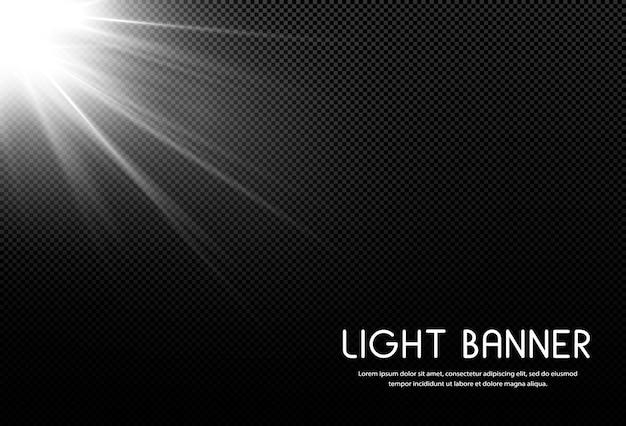 Lichtbanner shining star illustration.