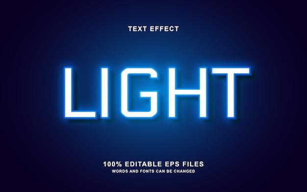 Lichtbezogenes design mit neon-texteffekt