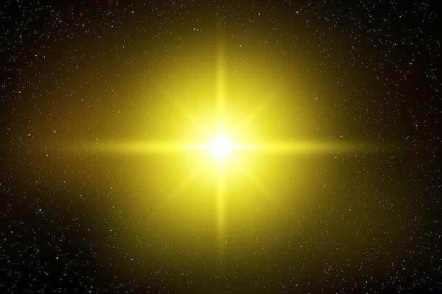 Lichtblitzeffekt durch glitzernde sonne oder sterne