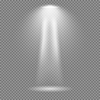 Lichteffekt auf transparentem hintergrund. helle lichter vektor-sammlung