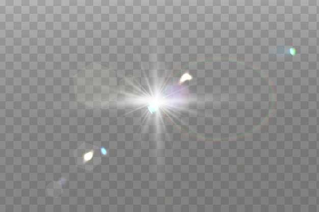 Lichteffekt auf transparentem hintergrund