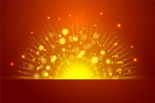 Lichteffekt bei sonnenaufgang