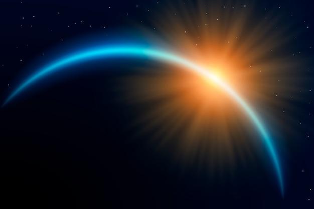 Lichteffekt des abstrakten sonnenaufgangs