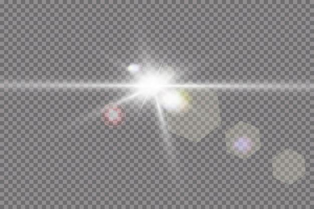 Lichteffekt des explodierenden hellen sterns