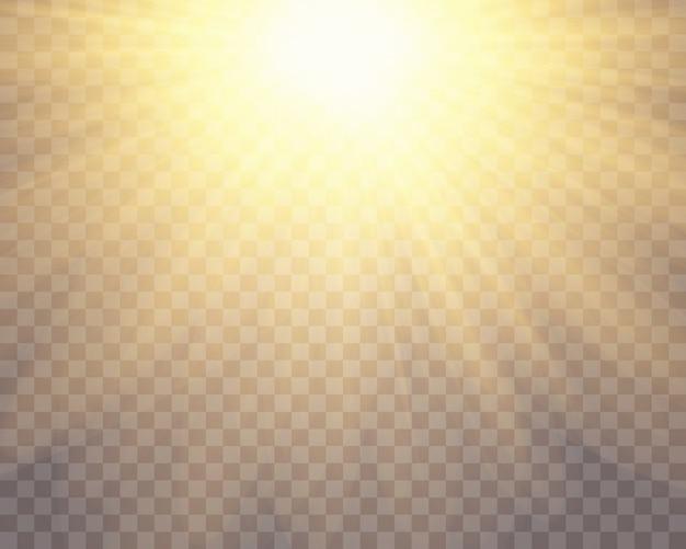 Lichteffekt des speziellen blendenflecks des transparenten sonnenlichts.