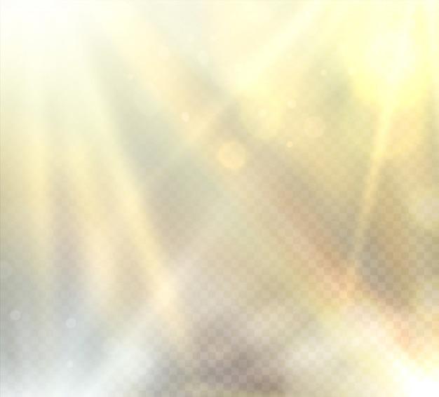 Lichteffekt des transparenten sonnenlichtaufflackerns