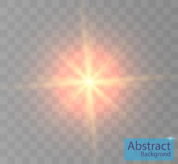 Lichteffekt für hintergründe und illustrationen neuer stern helle sonne